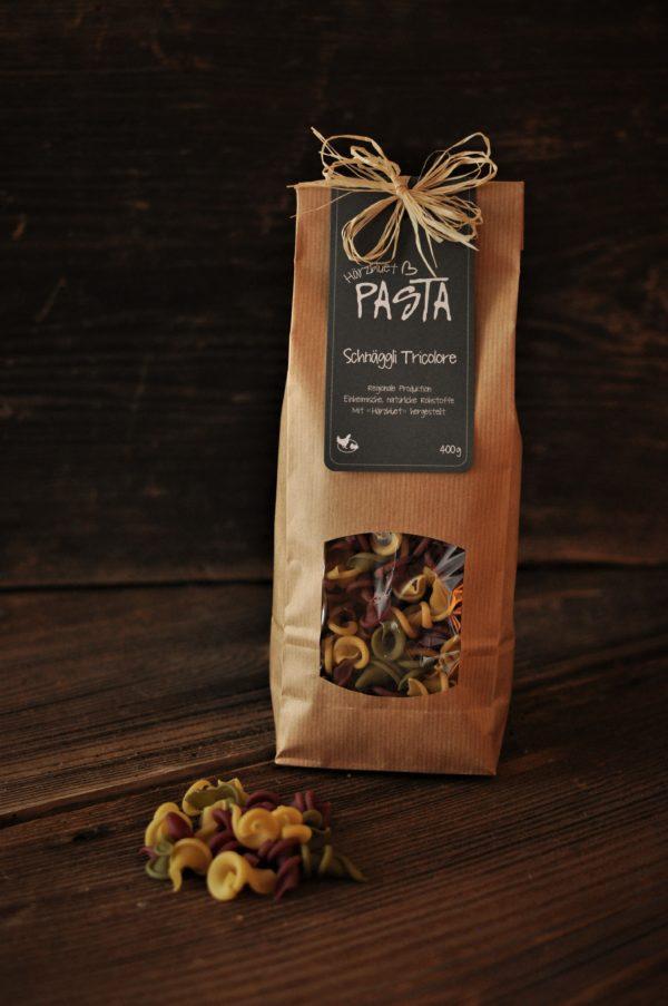 Härzbluet Pasta Tricolore Schnäggli
